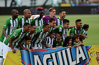 MEDELLÍN -COLOMBIA-11-JUNIO-2016.Formación del  Atlético Nacional contra Atlético Junior   durante partido por la semifinal-semifinal vuelta de la Liga Águila I 2016 jugado en el estadio Atanasio Girardot ./ Team of  Atletico Nacional  against of Atletico Junior during the match for the semifinal of  the Aguila League I 2016 played at Atanasio Girardot  stadium in Medellin . Photo: VizzorImage / León Monsalve  / Contribuidor