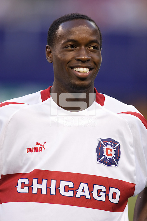 The Chicago Fire's DaMarcus Beasley during pre game introductions. The Chicago Fire played the NY/NJ MetroStars to a one all tie at Giant's Stadium, East Rutherford, NJ, on May 15, 2004.