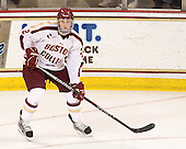 Brian Dumoulin (BC - 2) - The visiting Merrimack College Warriors tied the Boston College Eagles at 2 on Sunday, January 8, 2011, at Kelley Rink/Conte Forum in Chestnut Hill, Massachusetts.