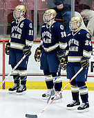 Erik Condra (Notre Dame - 11), Christiaan Minella (Notre Dame - 15),Sean Lorenz (Notre Dame - 24) - The University of Notre Dame Fighting Irish defeated the Boston College Eagles 4-1 on Friday, November 7, 2008, at Conte Forum in Chestnut Hill, Massachusetts.