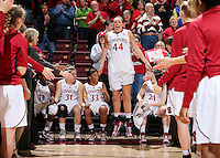 STANFORD, CA - January 25, 2013: Stanford Cardinal's Joslyn Tinkle before Stanford's 65-44 victory over the Utah at Maples Pavilion in Stanford, California.