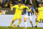 CD Leganes' Alberto Martin (r) and Villarreal CF's Nicola Sansone during La Liga match. December 3,2016. (ALTERPHOTOS/Acero)