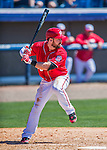 28 February 2016: Washington Nationals infielder Jason Martinson in action during an inter-squad pre-season Spring Training game at Space Coast Stadium in Viera, Florida. Mandatory Credit: Ed Wolfstein Photo *** RAW (NEF) Image File Available ***