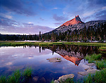 Cathedral Peak and Lake, Yosemite Wilderness/National Park, California