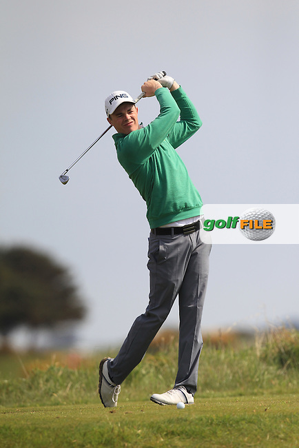 Stuart Grehan (Tullamore) on the 12th tee during Round 4 of the Flogas Irish Amateur Open Championship at Royal Dublin on Sunday 8th May 2016.<br /> Picture:  Thos Caffrey / www.golffile.ie