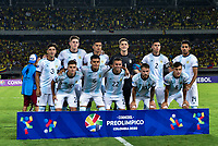 PEREIRA, COLOMBIA - JANUARY 18:  Argentina's players pose for a picture during their CONMEBOL Pre-Olympic soccer game  against Colombia at the Hernan Ramirez Villegas Stadium on January 18, 2020 in Pereira, Colombia. (Photo by Daniel Munoz/VIEW press/Getty Images)