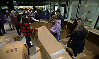 NWA Democrat-Gazette/ANDY SHUPE<br /> Thursday, Dec. 6, 2018, during the 20th annual Homeless Vigil at the school. Students are spending the night outside to raise awareness and money for the district's Families in Transition Program which serves students and their families in need of assistance.