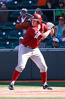 AUSTIN, TEXAS-March 6, 2011:  Eric Smith of Stanford pinch hits during the game against the Texas Longhorns, at Disch-Falk field in Austin, Texas.  Texas defeated Stanford 4-2.