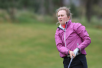 Leah Temple Lang (Elm Park) on the 1st tee during Round 1 of the Irish Girls U18 Open Stroke Play Championship at Roganstown Golf &amp; Country Club, Dublin, Ireland. 05/04/19 <br /> Picture:  Thos Caffrey / www.golffile.ie