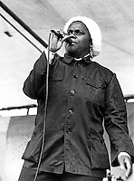 Bernice Reagan of Sweet Honey in the Rock performing in Harrisburg PA 1 year ater the nuclear accident at Three Mile Island 1980
