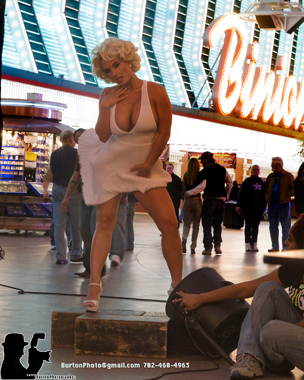 Calender shoot for CoCo (Nicole Austin), wife of Ice-T on Fremont Street in Las Vegas Nevada