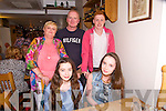Shauna McElligott and Myrna Scanlon from Mitchels and Oakpark, Tralee celebrating their 14th Birthdays. at Bella Bia on Saturday pictured  Shauna McElligott, Myrna Scanlon, Ita Scanlon, Eddie Scanlon and Darragh Scanlon