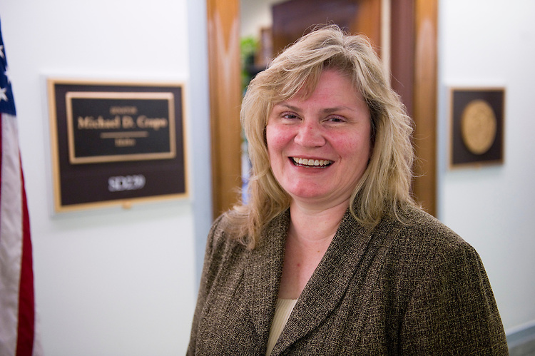 WASHINGTON, DC - May 25: Susan Wheeler is the new chief of staff for Sen. Michael D. Crapo, R-Idaho. (Photo by Scott J. Ferrell/Congressional Quarterly)