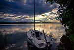 Zachód słońca nad Jeziorem Wdzydze.