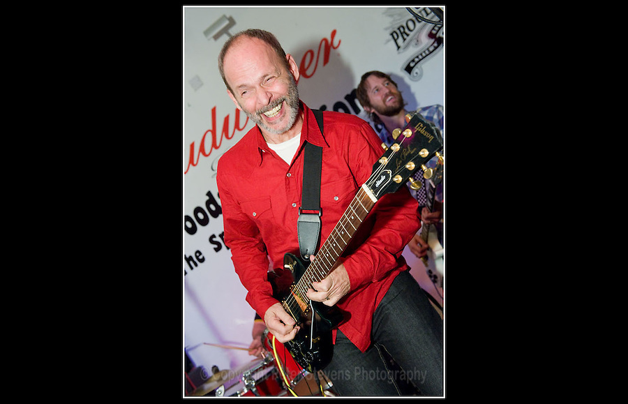 Guitarist Wayne Kramer, formerly of Detroit band MC5' plays at the premiere of the film 'Breaking Rocks' for Billy Bragg's charity 'Jail Guitar Doors' at The Proud Gallery, Camden on 1st October 2009.