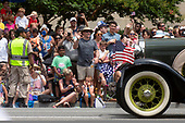 Groups gather to watch the 4th of July parade on Constitution Avenue in Washington D.C. on July 4, 2019.<br /> <br /> Credit: Stefani Reynolds / CNP