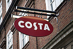 Costa coffee shop sign, Colchester, Essex