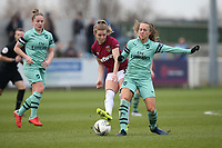 Kate Longhurst of West Ham and Lia Walti of Arsenal during West Ham United Women vs Arsenal Women, FA Women's Super League Football at Rush Green Stadium on 6th January 2019