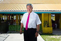 Enele Sopoaga, the Prime Minister of Tuvalu. Located in the South West Pacific Ocean, Tuvalu is the world's 4th smallest country and is one of the most vulnerable to climate change impacts including sea level rise, drought and extreme weather events. Tuvalu - March, 2019.