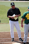 February 21, 2010:  Head Coach Pete Dunn of the Stetson Hatters during the teams opening series at Melching Field at Conrad Park in DeLand, FL.  Photo By Mike Janes/Four Seam Images