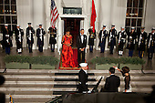 United States President Barack Obama and First Lady Michelle Obama welcome President Hu Jintao of China at the North Portico of the White House for the State Dinner, Wednesday, January 19, 2011. .Mandatory Credit: Chuck Kennedy - White House via CNP