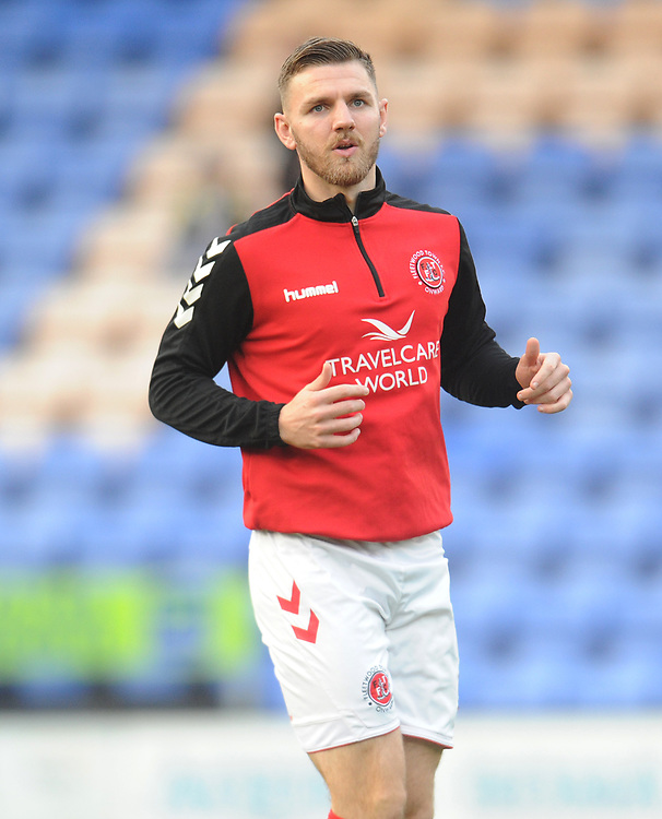 Fleetwood Town's Ashley Eastham during the pre-match warm-up <br /> <br /> Photographer Kevin Barnes/CameraSport<br /> <br /> The EFL Sky Bet League One - Shrewsbury Town v Fleetwood Town - Tuesday 1st January 2019 - New Meadow - Shrewsbury<br /> <br /> World Copyright © 2019 CameraSport. All rights reserved. 43 Linden Ave. Countesthorpe. Leicester. England. LE8 5PG - Tel: +44 (0) 116 277 4147 - admin@camerasport.com - www.camerasport.com