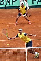 MEDELLIN - COLOMBIA - 08 - 04 - 2017: Juan Sebastian Cabal y Robert Farah de Colombia durante partido de la serie final de partidos en el Grupo I de la Zona Americana de la Copa Davis, partidos entre Colombia y Chile, en Country Club Ejecutivos de la ciudad de Medellin. / Juan Sebastian Cabal y Robert Farah of Colombia during a match to the final series of matches in Group I of the American Zone Davis Cup, match between Colombia and Chile, at the Country Club Executives in Medellin city. Photo: VizzorImage / Juan C Quintero / Fedetenis / Cont