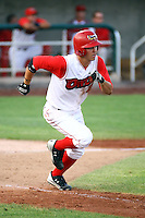 July 10th 2008: Rian Kiniry of the Orem Owlz, Rookie Class-A affiliate of the Los Angeles Angels of Anaheim,  during a game at Home of the Owlz Stadium in Orem, UT.  Photo by:  Matthew Sauk/Four Seam Images