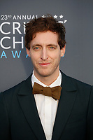 Thomas Middleditch attends the 23rd Annual Critics' Choice Awards at Barker Hangar in Santa Monica, Los Angeles, USA, on 11 January 2018. Photo: Hubert Boesl - NO WIRE SERVICE - Photo: Hubert Boesl/dpa /MediaPunch ***FOR USA ONLY***
