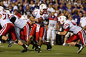 October 07, 2010: Nebraska quarterback Taylor Martinez (3) looks to handoff the ball while playing Kansas State at the Bill Snyder Family Stadium in Manhattan, Kansas.  Nebraska defeated Kansas State 48 to 13.