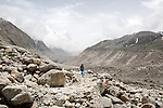 INDIA, GANGOTRY JUNE 2015;<br /> Gangotri Glacier (S is located in Uttarkashi District, Uttarakhand, India in a region bordering China. This glacier, one of the primary sources of the Ganges, is one of the largest in the Himalayas with an estimated volume of over 27 cubic kilometers.<br /> The terminus of the Gangotri Glacier is said to resemble a cow's mouth, and the place is called Gomukh or Gaumukh.<br /> Gomukh, Is the precise source of the Bhagirathi river, an important tributary of the Ganges. Gomukh is situated near the base of Shivling; in between lies the Tapovan meadow.<br /> The Gangotri glacier is a traditional Hindu pilgrimage site. Devout Hindus consider bathing in the icy waters near Gangotri town to be a holy ritual, and many made the trek to Gomukh, with a few continuing on to Tapovan.