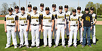 April 24, 2017- Tuscola, IL- The 2017 Warrior Junior Varsity Baseball team. Back row from left are Max Wyninger, Lucas Sluder, Ryan Bartley, Zachery DeVore, Caleb Stumeier, Hunter Hutcherson, and Blake Schultz. Front row from left are Jonah Pierce, Coulson Poffenberger, Brody Good, Benito Mendoza, Grant Hale, Michael Ludwig, and Dalton Grover. [Photo: Douglas Cottle]