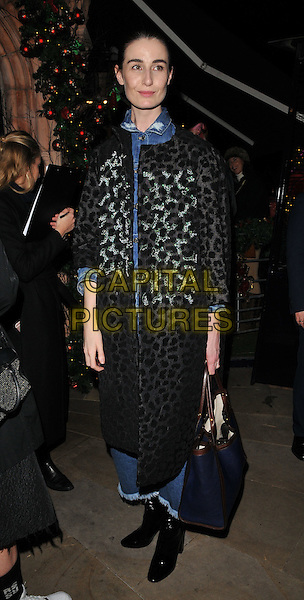Erin O'Connor attends the LOVE magazine Christmas party, George Club, Mount Street, London, UK, on Friday 18 December 2015.<br /> CAP/CAN<br /> &copy;Can Nguyen/Capital Pictures