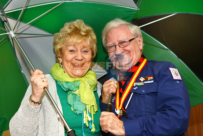 05/03/2015 – Patrick's Day Launch – Isobel San Roma and Grand Marshall Pat Hanratty. Picture:  newsfile.ie Picture: newsfile.ie