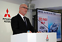 October 18, 2017, Tokyo, Japan - Japan's automaker Mitsubishi Motors (MMC) COO Trevor Mann announces the company's mid-term strategy at the MMC headquarters in Tokyo on Wednesday, Octoebr 18, 2017. MMC said three-year plan would target more tha 30 percent increase in unit sales and revenues.    (Photo by Yoshio Tsunoda/AFLO) LWX -ytd-