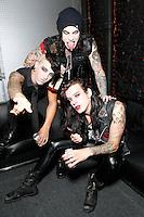 PHILADELPHIA, PA - OCTOBER 12 :  EXCLUSIVE PORTRAIT of Vampires Everywhere taken in the dressing room before the show at the TLA in Philadelphia, Pa on October 12, 2012  ***EXCLUSIVE***  © Star Shooter / MediaPunch Inc /NortePhotoAgency