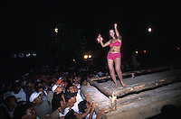 Girl dancing in Bikini Contest at Siargao Island