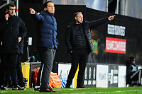 Steve Cooper Head Coach of Swansea City shouts instructions to his team from the dug-out during the Sky Bet Championship match between Fulham and Swansea City at Craven Cottage on February 26, 2020 in London, England. (Photo by Athena Pictures/Getty Images)