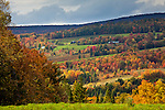 Autumn view from Craftsbury Common, Craftsbury, VT, USA