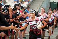 Southland v North Harbour Women on day two of the 2018 Bayleys National Sevens at Rotorua International Stadium in Rotorua, New Zealand on Sunday, 14 January 2018. Photo: Dave Lintott / lintottphoto.co.nz