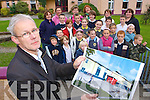 David Fox with parents and children who are angry that the new National School proposed for Kenmare has been postponed by the Government   Copyright Kerry's Eye 2008