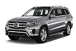 2017 Mercedes Benz GLS-Class GLS450 5 Door SUV Angular Front stock photos of front three quarter view
