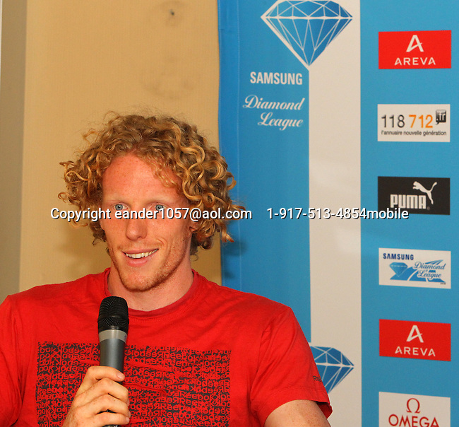 Steven Hooker at the Samsung Diamond League press conference, Pullman Hotel. Paris,France Thursday, July  15, 2010. photo by Errol Anderson.