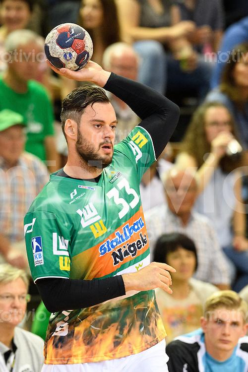 Jens Schöngarth (FAG) beim Wurf