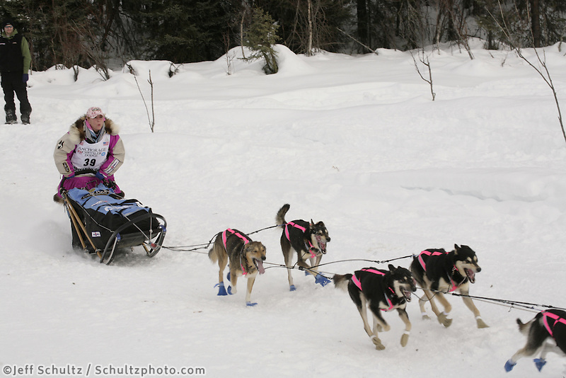 DeeDee Jonrowe Willow restart Iditarod 2008.