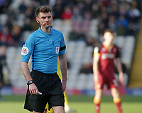 Referee Ollie Yates in action<br /> <br /> Photographer David Shipman/CameraSport<br /> <br /> The EFL Sky Bet League One - Bradford City v Fleetwood Town - Saturday 9th February 2019 - Valley Parade - Bradford<br /> <br /> World Copyright &copy; 2019 CameraSport. All rights reserved. 43 Linden Ave. Countesthorpe. Leicester. England. LE8 5PG - Tel: +44 (0) 116 277 4147 - admin@camerasport.com - www.camerasport.com