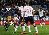 Bolton Wanderers' Sammy Ameobi shoots <br /> <br /> Photographer Andrew Kearns/CameraSport<br /> <br /> The EFL Sky Bet Championship - Bolton Wanderers v Sheffield Wednesday - Tuesday 12th March 2019 - University of Bolton Stadium - Bolton<br /> <br /> World Copyright © 2019 CameraSport. All rights reserved. 43 Linden Ave. Countesthorpe. Leicester. England. LE8 5PG - Tel: +44 (0) 116 277 4147 - admin@camerasport.com - www.camerasport.com