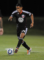 DC United midfielder Andy Najar (14)  The New England Revolution defeated DC United 3-2 in US Open Cup match , at the Maryland SoccerPlex, Tuesday  April 26, 2011.