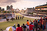 MAURITIUS, Port Louis, an international horse race draws thousands at Champ de Mars Race Cource, International Jockey Day