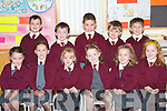 FUN: The new students of Knockaderrry NS, Farranfore having fun on their first day school seated l-r: Evelyn Daly, Ruth Daly, Olivia Gleeson, Eilbhli?n O'Leary, Alannah O'Leary and Katie Brosnan. Back l-r: Michael Brosnan, Darren Dewiel, Brian Burke, Michael Moynihan and Andrew Moynihan.   Copyright Kerry's Eye 2008